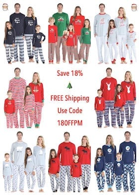 Save on Family Matching PJs with PajamaMania Promo Code 18OFFPM