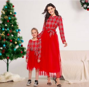Budget Friendly Mother Daughter Matching Christmas Dresses