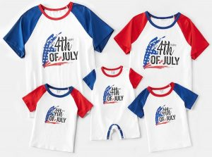 Family Matching 4th of July Tops