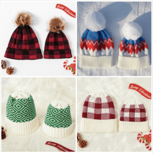 Family Matching Knit Holiday Hats