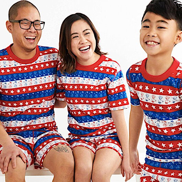 Family Matching PJs Snoopy Stars and Stripes