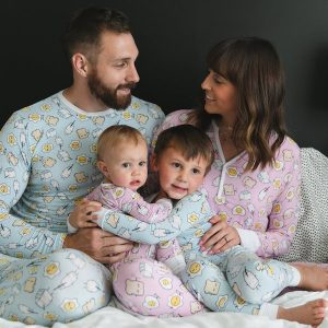 Family Matching Silky Soft Bamboo Viscose Breakfast Buddies Sleepwear