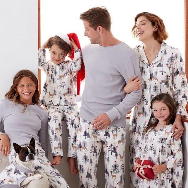 Family Matching Woodland Deer Christmas Pajamas