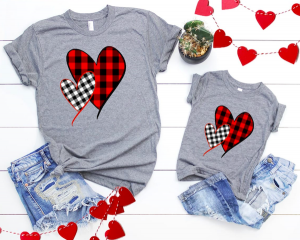 Family Valentines Day Heart Tees