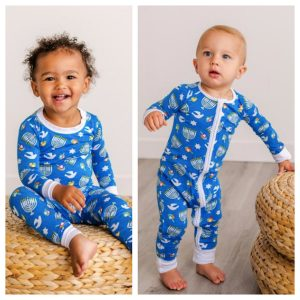 KIds Silky Soft and Cozy Bamboo Viscose Hanukkah Pajamas
