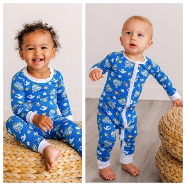 Babies and KIds Silky Soft and Cozy Bamboo Viscose Hanukkah Pajamas