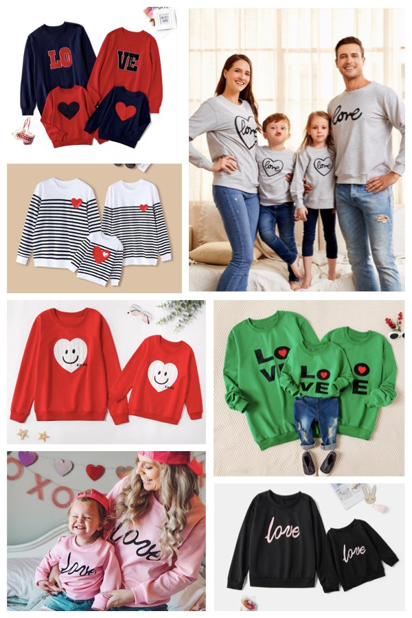 Mommy Daddy and Me Matching Love Shirts for Valentines Day
