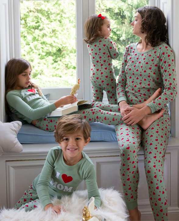Valentines Day Family Matching Heart Pajamas