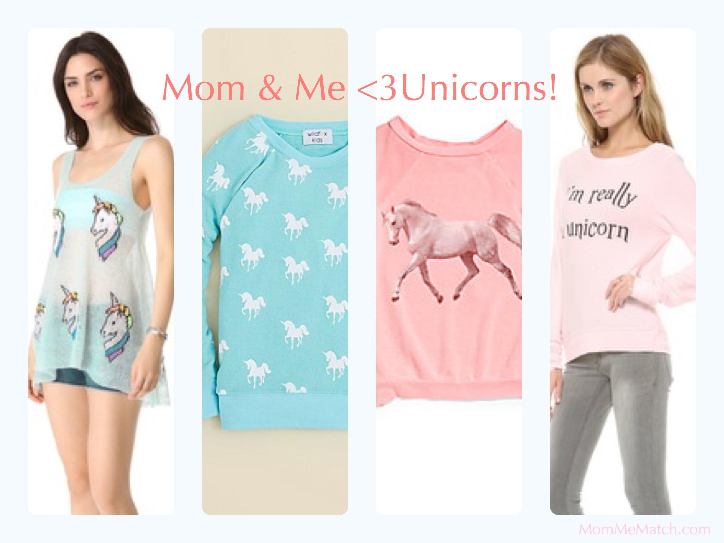 Mom & Me Matching Unicorn Shirts