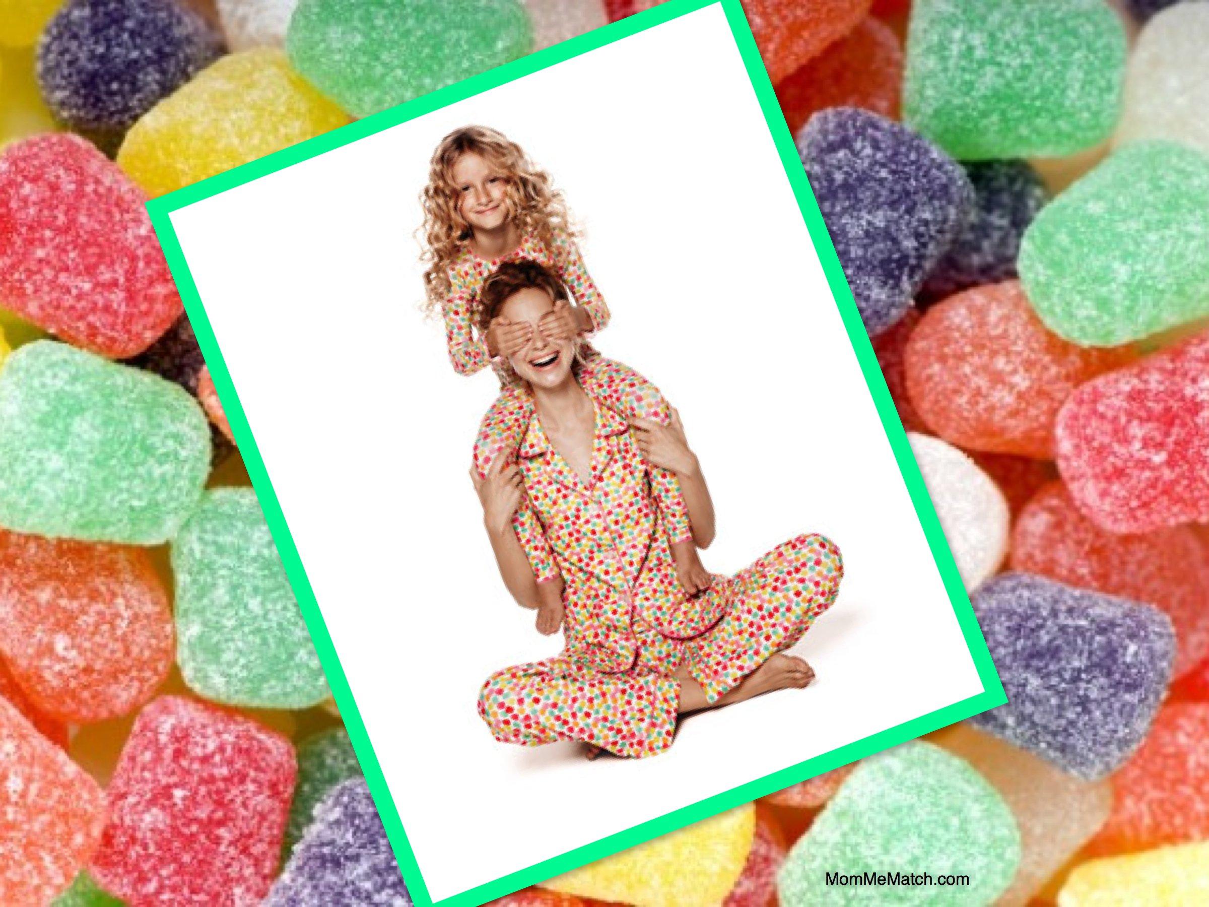 Mother & Daughter Matching Gumdrop Pajamas