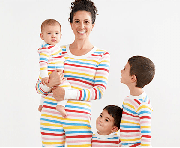 Family Matching Multi Color Striped Oganic Cotton Pajamas