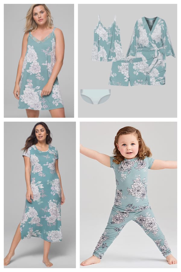 Jade Floral Mother Daughter Matching Sleepwear