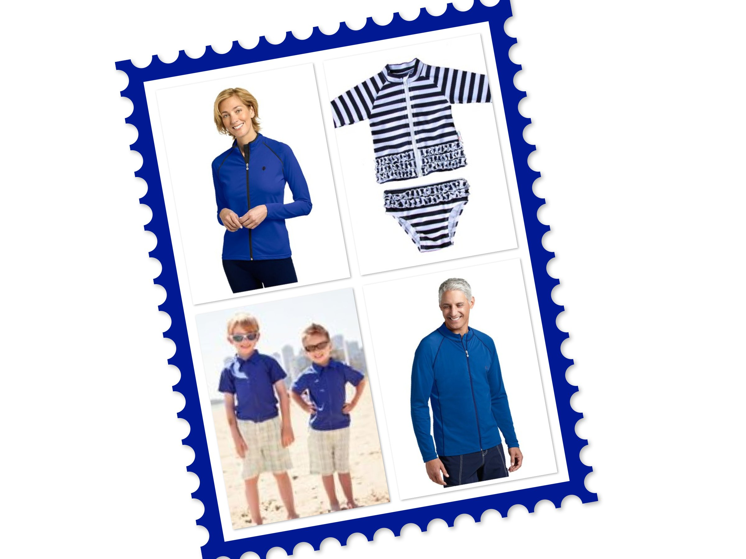 Matching Family Sun Protective Swimwear SwimZip on Shark Tank