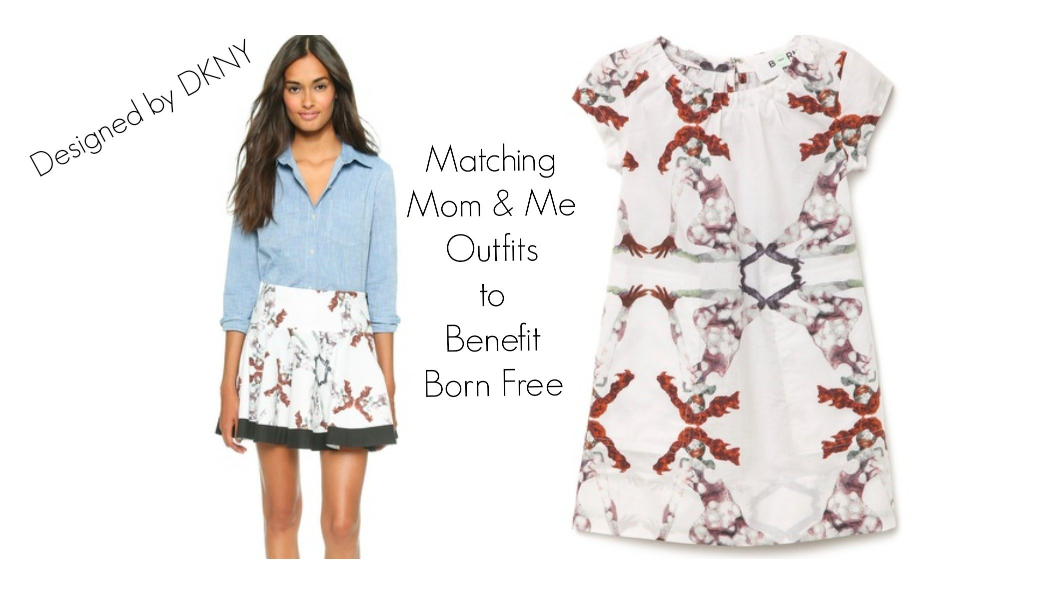DKNY Mother & Daughter Matching Outfits to Benefit Born Free, Born Free DKNY Skirt, Matching Mother & Daughter DKNY Outfits