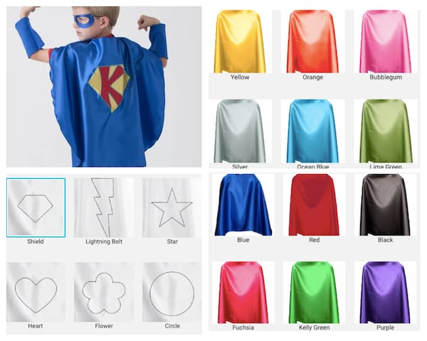 Personalized Superhero Costume with Cape