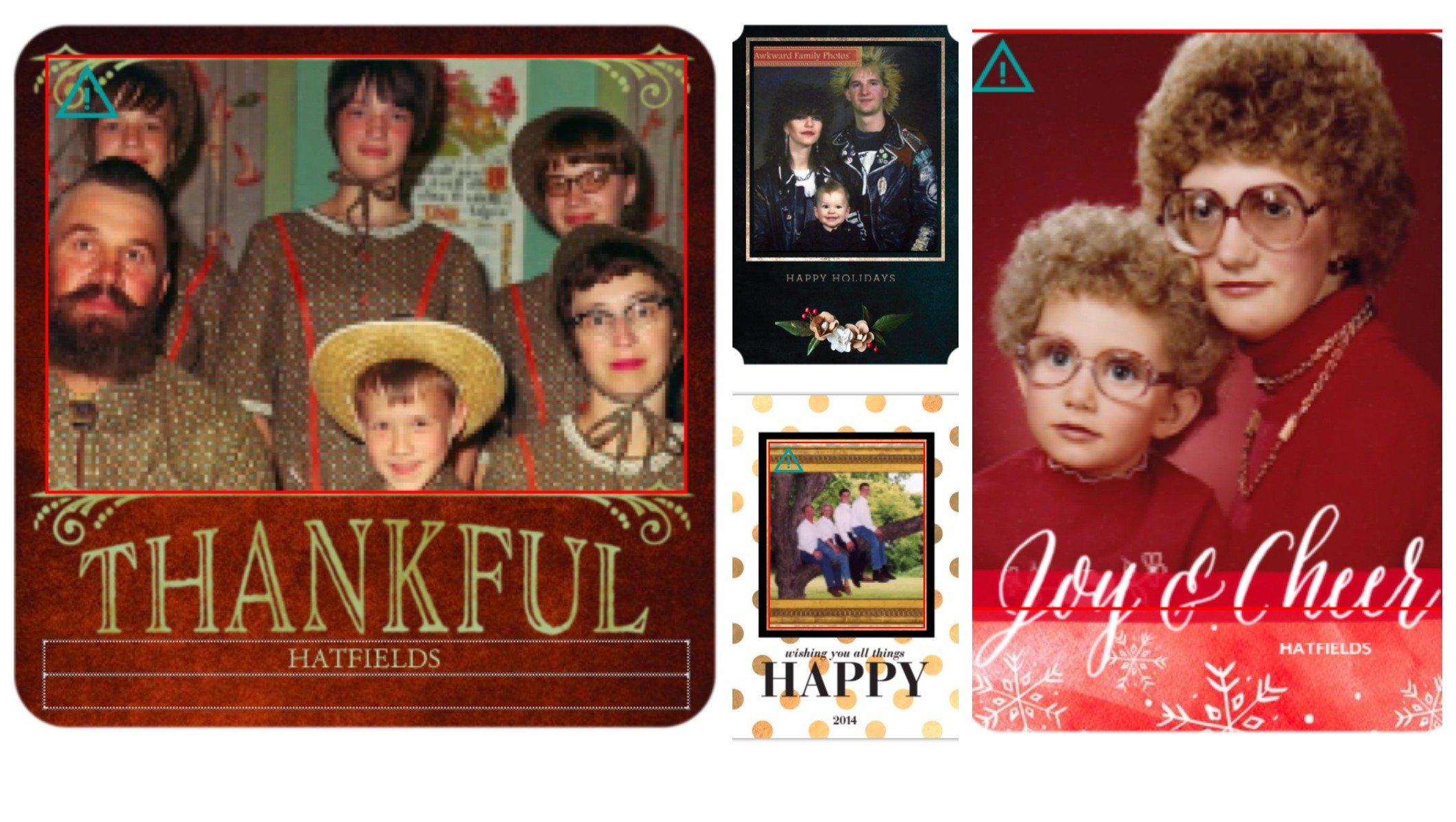Awkward Family Photos Inserted in Holiday Cards