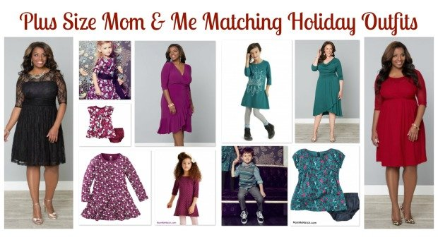 Plus Size Mom & Me Matching Holiday Outfits