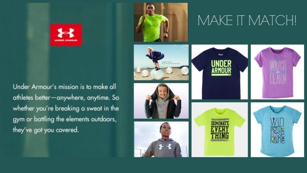 Matching Under Armour Sportswear for the Whole Family