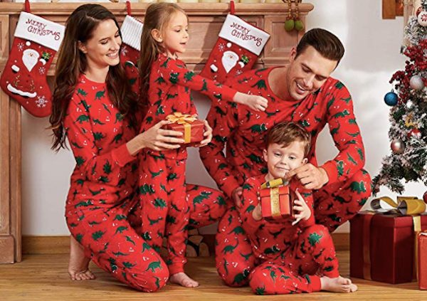 Family Matching Christmas Dinosaur Pajamas
