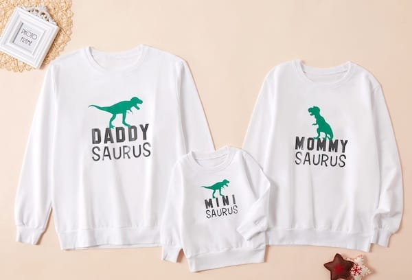 Family Matching Dino Saurus Shirts