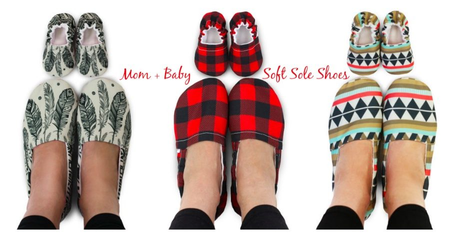Mom + Baby Matching Soft Sole Shoes, Adorable Matching Mother Baby Mocs