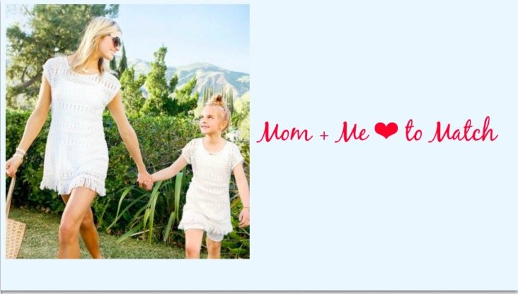 Mother Daughter Matching Stella and Dot Lace Tunics and Love Always Necklaces