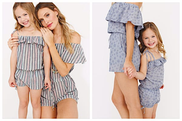 Mommy and Me Matching Rompers