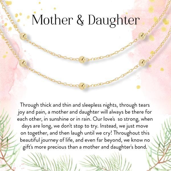 Mother Daughter Dot Bracelet Set - Mothers Day Gift Ideas