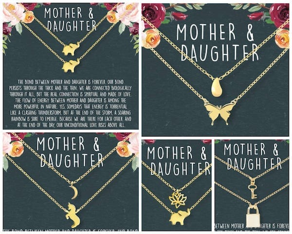 Mother Daughter Matching Necklace Sets - Mothers Day Gift Ideas