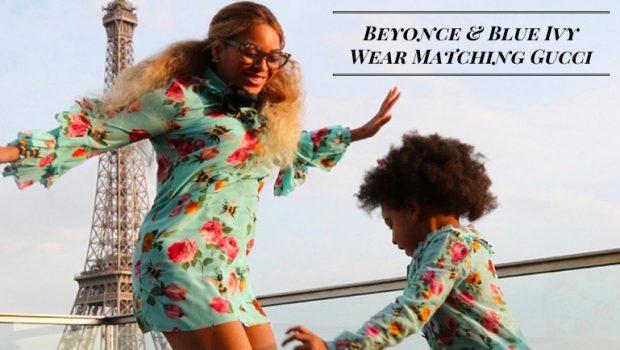 Beyonce & Blue Ivy Wear Matching Gucci Dresses