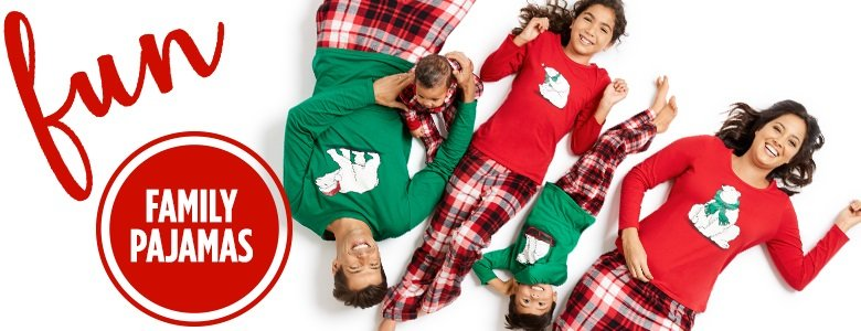 JC Penney's Family Holiday Pajamas