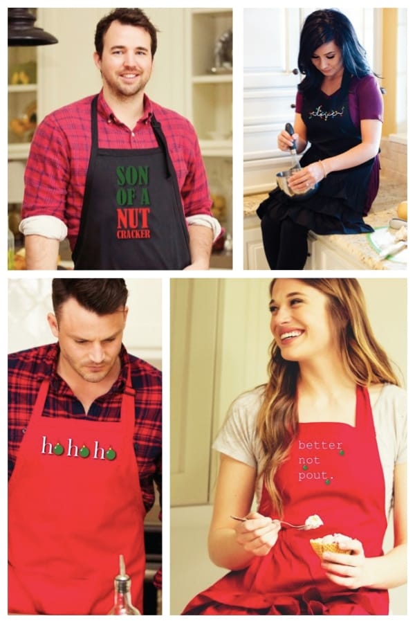His and Her Christmas Flirty Aprons