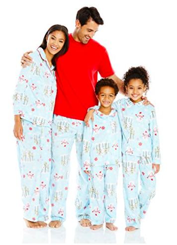Karen Neuburger Family Minky Fleece Snowman Holiday Matching Pj Set
