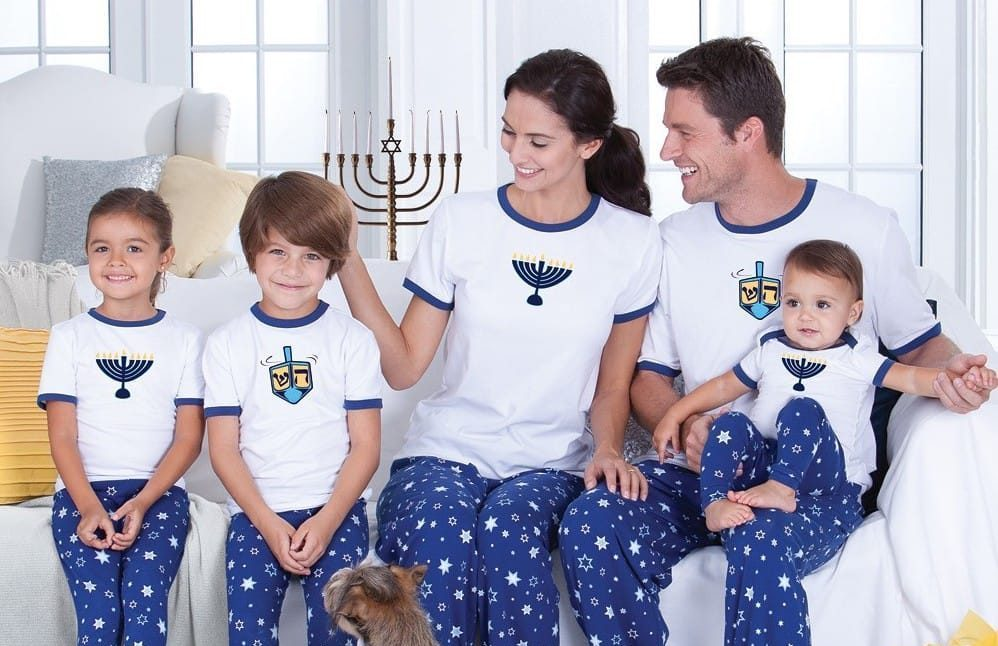 Matching Family Hanukkah Jammies