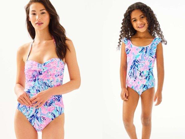 Periwinkle Purple Fan Swimsuit