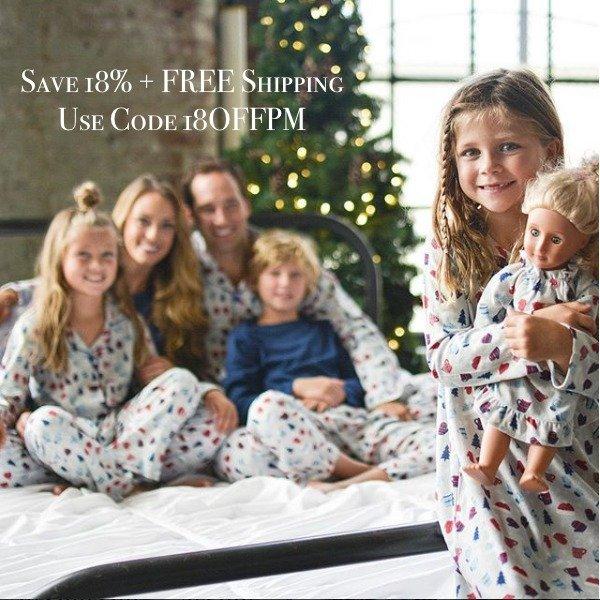 Family Matching Hot Cocoa Holiday Pajamas
