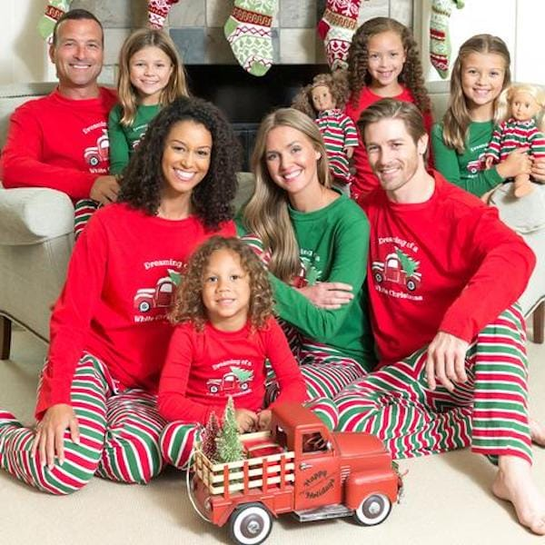 Christmas Stripes Family Matching Pajamas