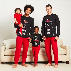 Daddies and Me Matching Papa Bear Winter Pajamas
