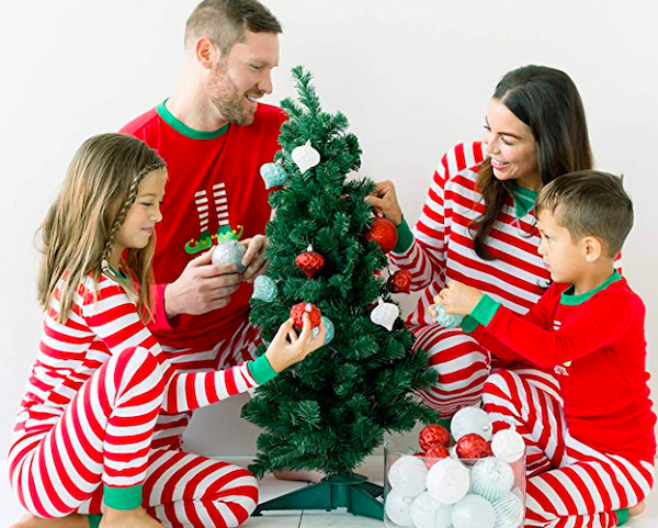 Family Christmas Mix and Match Red Striped Elf Pajamas
