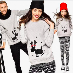 Family Matching Deer Sweatshirts
