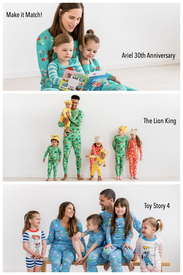 Family Matching Disney Pajamas - Ariel 30th Anniversary, Toy Story 4, The Lion King