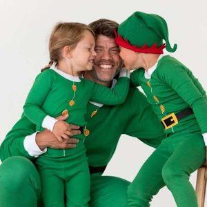 Family Matching Elf Pajamas