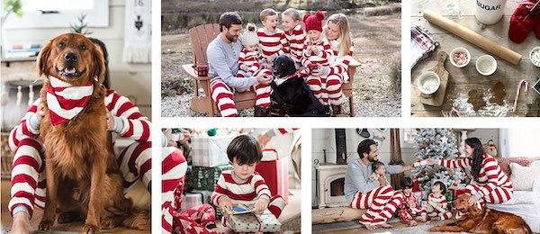 Family Matching Rugby Striped Christmas Pajamas
