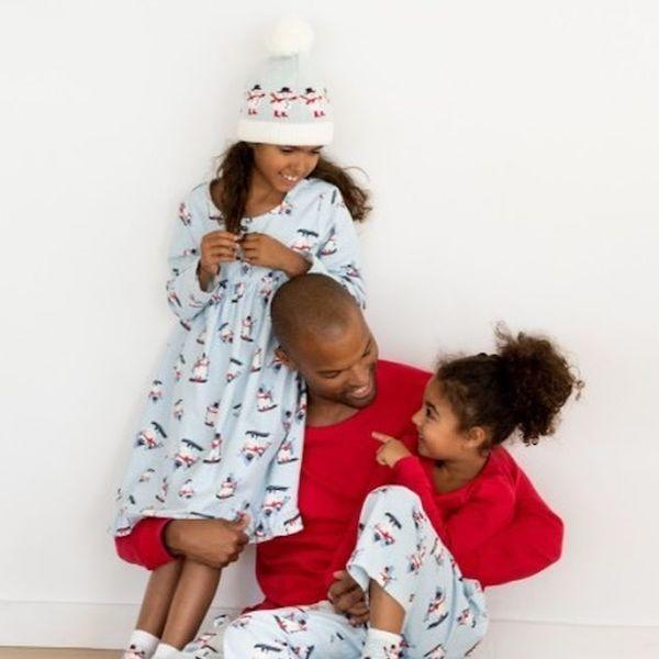 Family Matching Snow People Holiday Pajamas