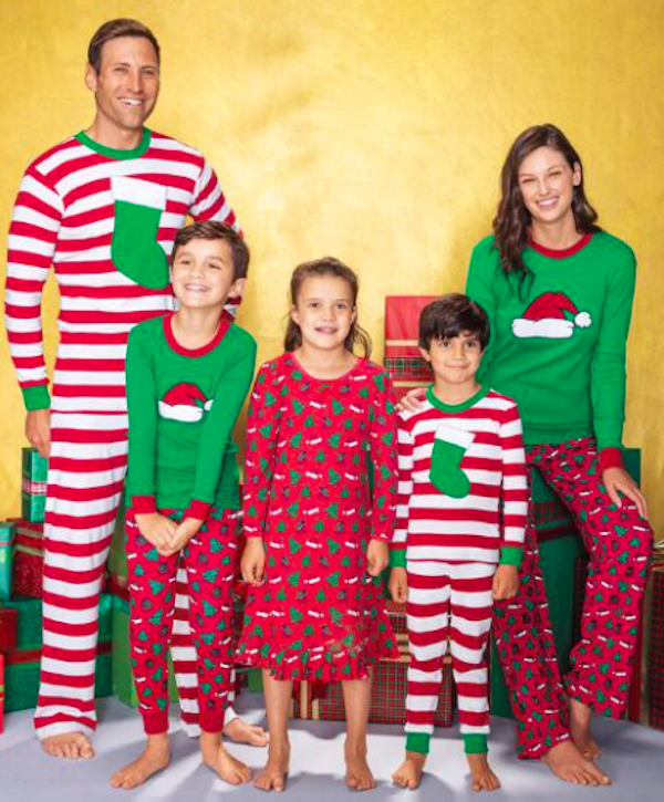 Family Matching Striped Stocking PJs