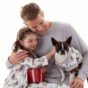 Family Matching Woodland Deer Holiday Pajamas