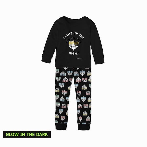 Kids Light Up the Night Glow in the Dark Hanukkah Pajamas