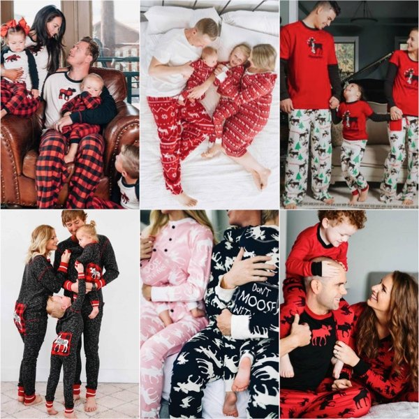 Moose Holiday Family Matching Pajamas