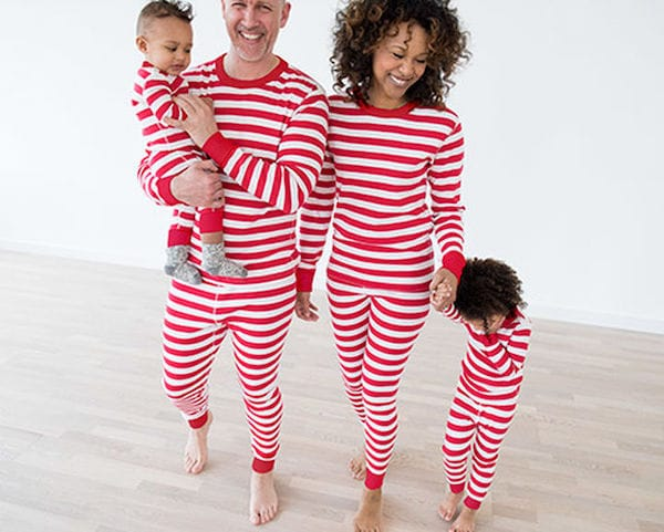 Family Matching Classic Red Striped Pajamas