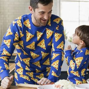 Family Matching Pizza Pajamas